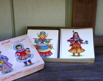 Vintage Dolls of Many Lands Boxed Notecards