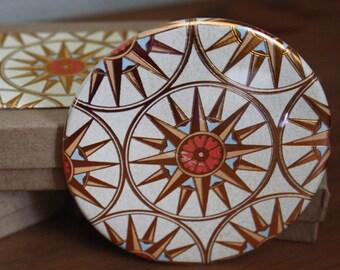 Golden Compass - 3.5 Inch Pocket Mirror