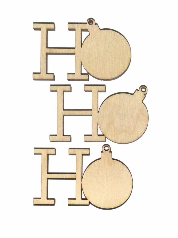 ho ho ho sets bulk purchasing unfinished flat wood shape cut etsy