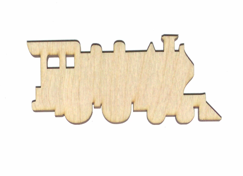 Train Engine Bulk Purchase Unfinished Flat Wood Shape Cut