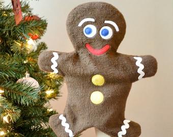Gingerbread Man Puppet & Softie PDF Sewing Pattern