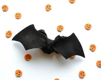 Bat Tie Scrunchie, Halloween Hair Scrunchie, Halloween Hair accessory.