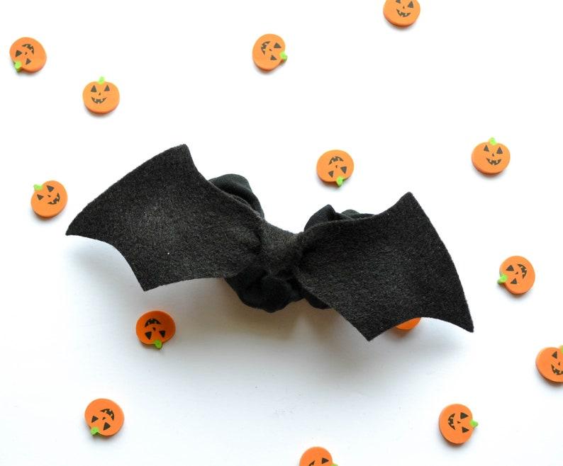 Bat Tie Scrunchie Halloween Hair Scrunchie Halloween Hair image 1