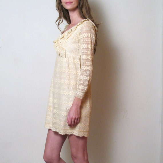 1960s LACE DOLLY mini dress, xs