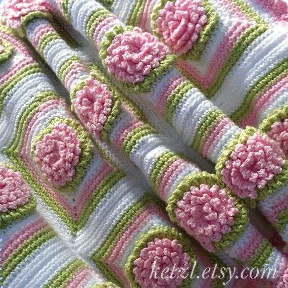 Crochet Pattern Baby Blanket Afghan Bunny Rug Crochet Flowers Etsy