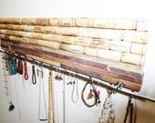 Jewelry Organizer Wood Cork Tile Wall Art Wall Mount Jewelry Hanger Earring Bracelet Necklace Hanger Jewelry Hooks Jewelry Display Unique