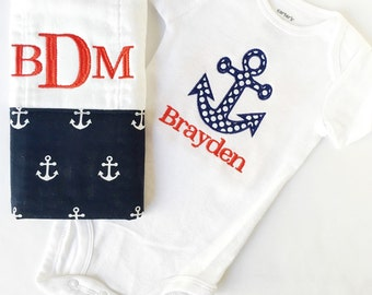526454db5 Baby Boy Shower Gift, Nautical Baby Gift, Unique Baby Gift, Take Home  Outfit, Coming Home Outfit, Newborn Baby Gown, Baby Gown, Anchor Baby
