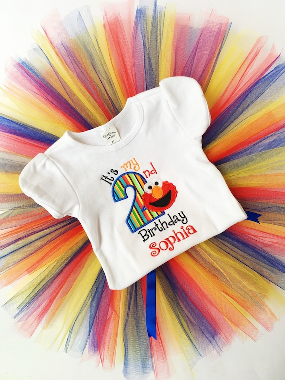 Elmo 1st And 2nd Birthday Shirt For Girls Toddlers
