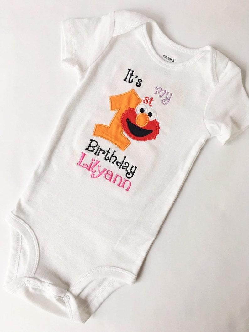 Elmo Birthday Shirt Girl 1st 2nd Sesame