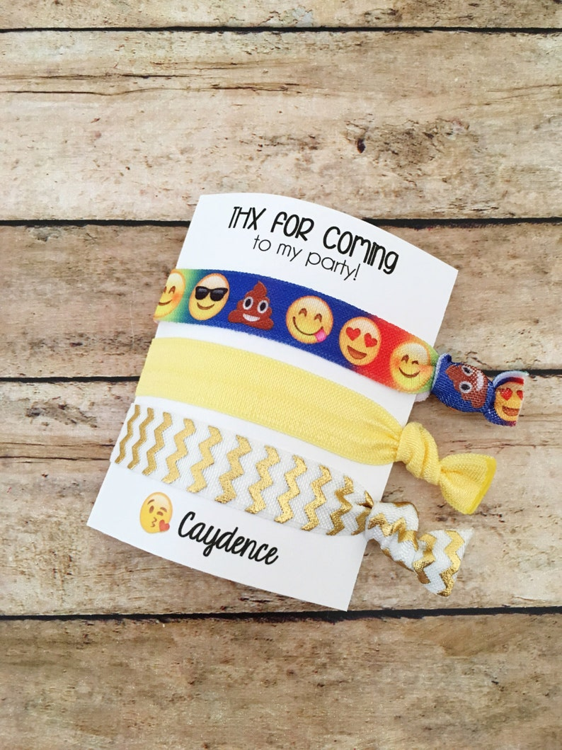 Emoji Party Favors Emoji Birthday Favor Emoji Hair Tie Hair image 0