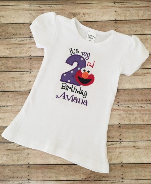 Elmo Birthday Shirt Girl 2nd