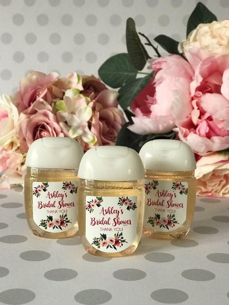 Wedding Favors Hand Sanitizer Labels Bridal Shower Favors image 0