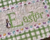 Easter Table Runners, Easter Table Toppers, Easter Décor, Table Quilts, Embroidered Table Runners, Spring Table Runners