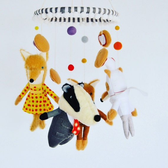 Fantastic Mr Fox Baby Mobile The Perfect Mobile For Roald Etsy