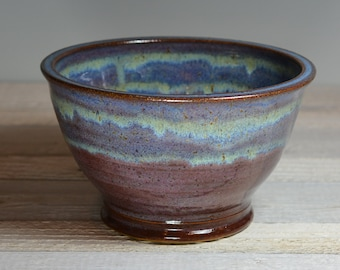 Ceramic Bowl - Serving Bowl - Small Mixing Bowl - Purple & Blue