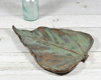 Large Leaf Spoon Rest - Soap Dish -