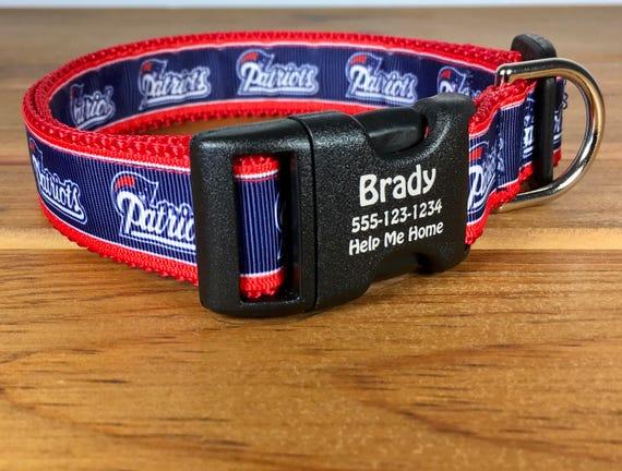 New England Patriots Football américain équipe chien nationale de Football League Conférence est Division Pet ID