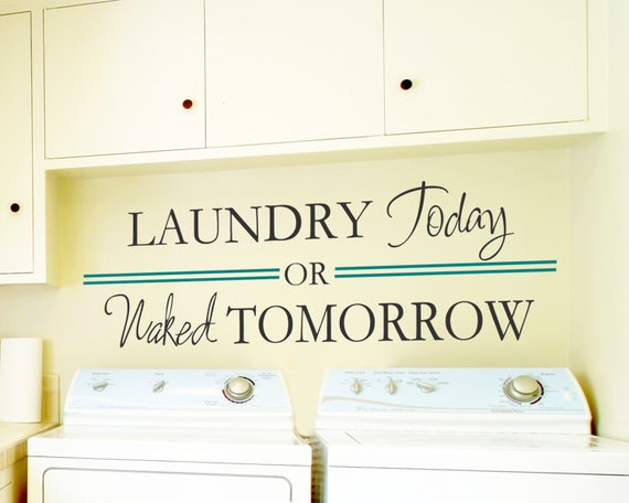 Items similar to Laundry sign, Laundry today or naked