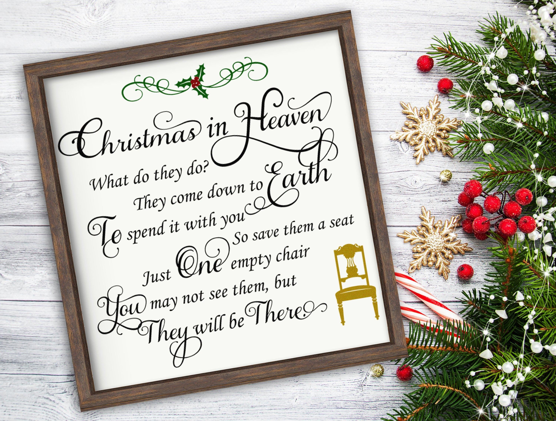 christmas in heaven poem vinyl decal christmas decoration etsy jpg 3000x2270 merry christmas sympathy - Merry Christmas From Heaven Poem
