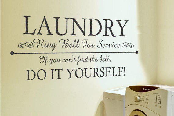 Laundry Room Decor Socks Single /& Looking Vinyl Decal Wall Stickers Letters