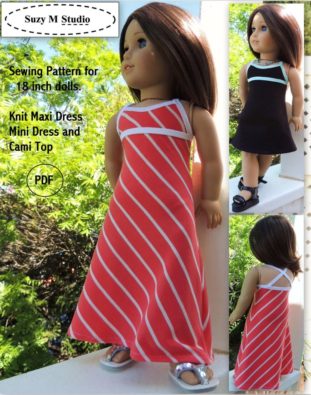 Knit Maxi Dress Mini Dress and Top PDF Pattern