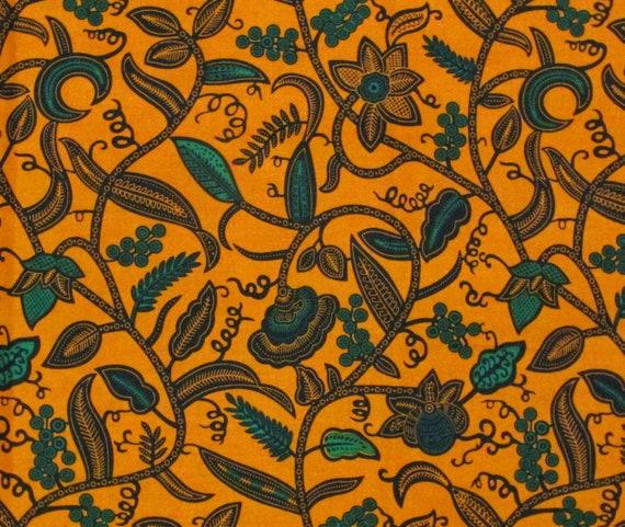 African Fabric 1//2 Yard Cotton Wax Print PEACH PURPLE Abstract BTHY