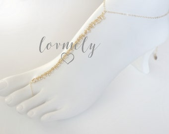 6a268059c821 LOVMELY gold barefoot sandal  anklet 22k gold wire wrapped turquoise