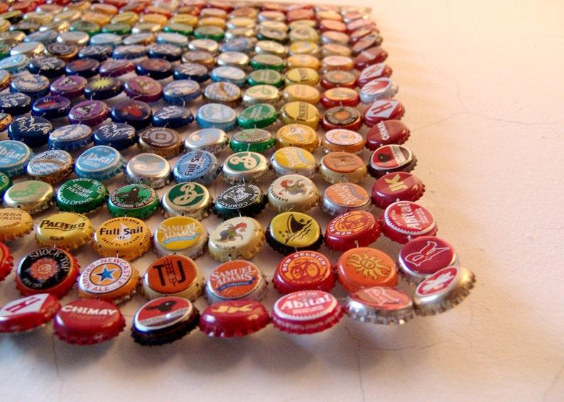 Square Metal Rainbow  bottle cap tapestry image 0