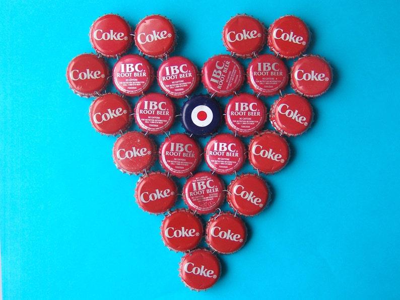 Heart Target  bottle cap trivet image 0