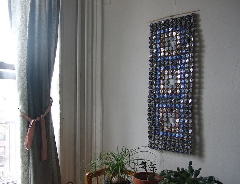 Three Squares  bottle cap tapestry image 0