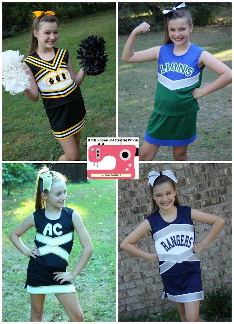 Victory Cheerleading Uniform PDF Sewing Pattern Sizes 1/2 16 image 0