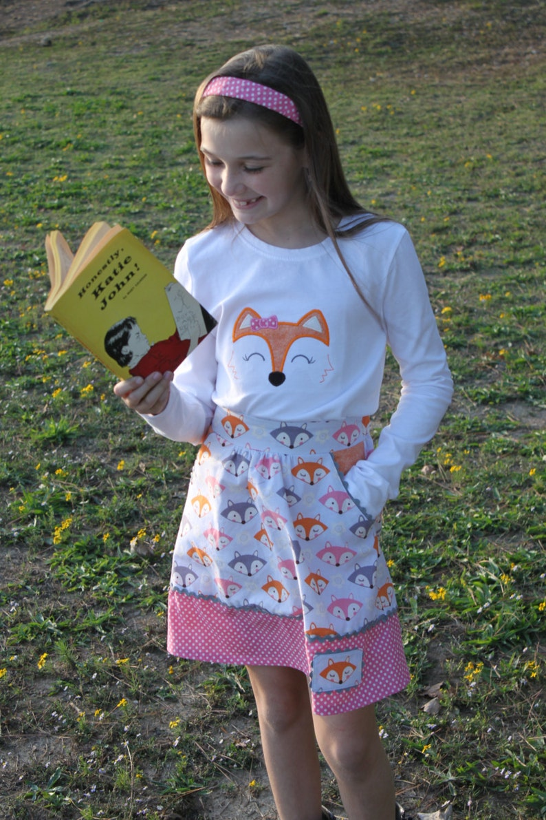 Katie John Skirt PDF Pattern sized for 1/2-16 Girls image 0