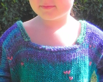 Impressionist Water Lilies Silk Toddler Sweater Pattern PDF