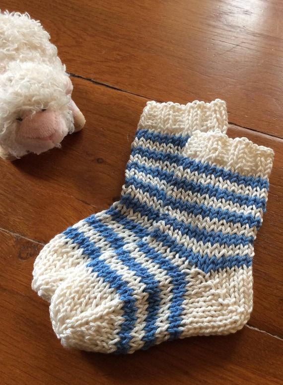French Striped Baby Socks Knitting Pattern Pdf Etsy