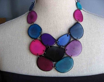 Shades of Purple and Blue Statement Necklace