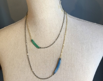 Layering necklace Many Colors Avail