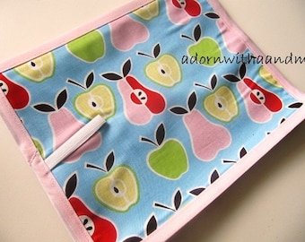 Chalkimamy Alexander Henrys apples and pears TRAVEL chalkboard mat placemat  (a)