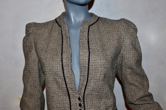1970s Allen Bernard fitted jacket.  Suit blazer. … - image 1