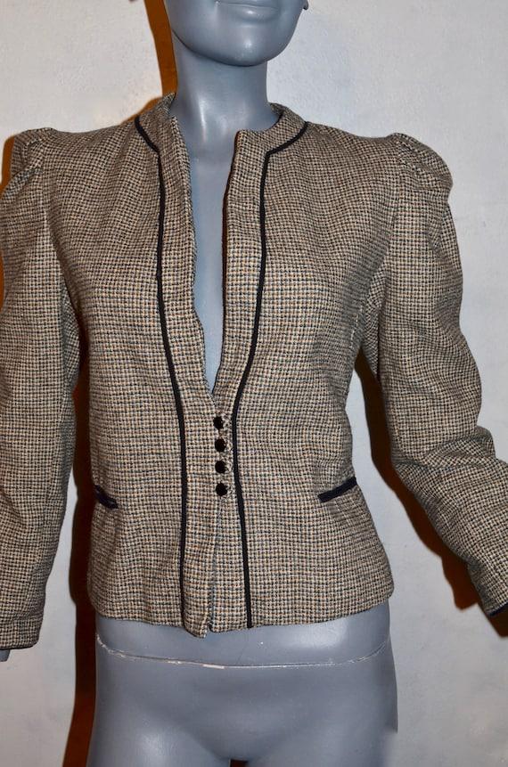 1970s Allen Bernard fitted jacket.  Suit blazer. … - image 5
