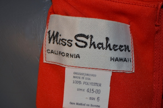 1970s Shaheen Red Blouse.  Gathered shoulders.  M… - image 7