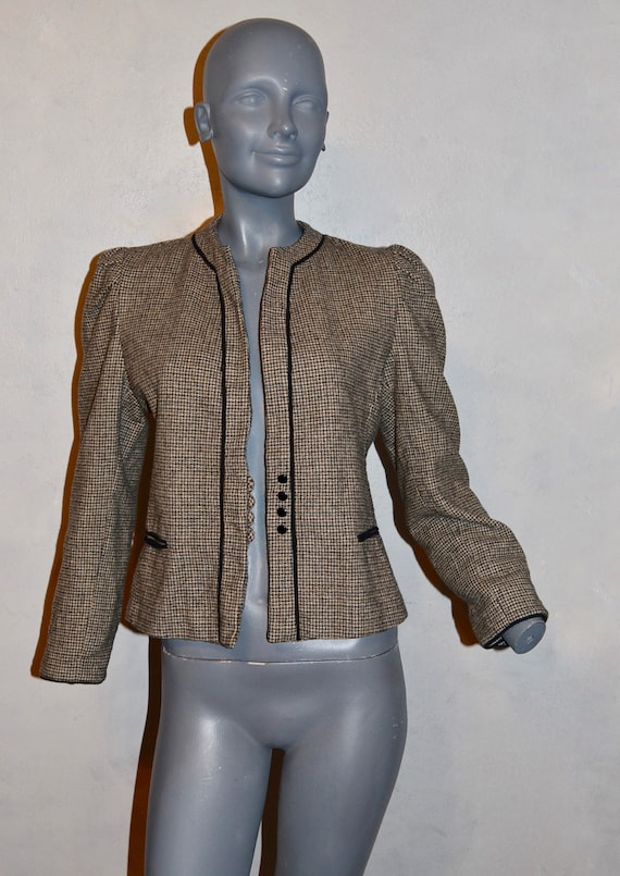 1970s Allen Bernard fitted jacket.  Suit blazer. … - image 2