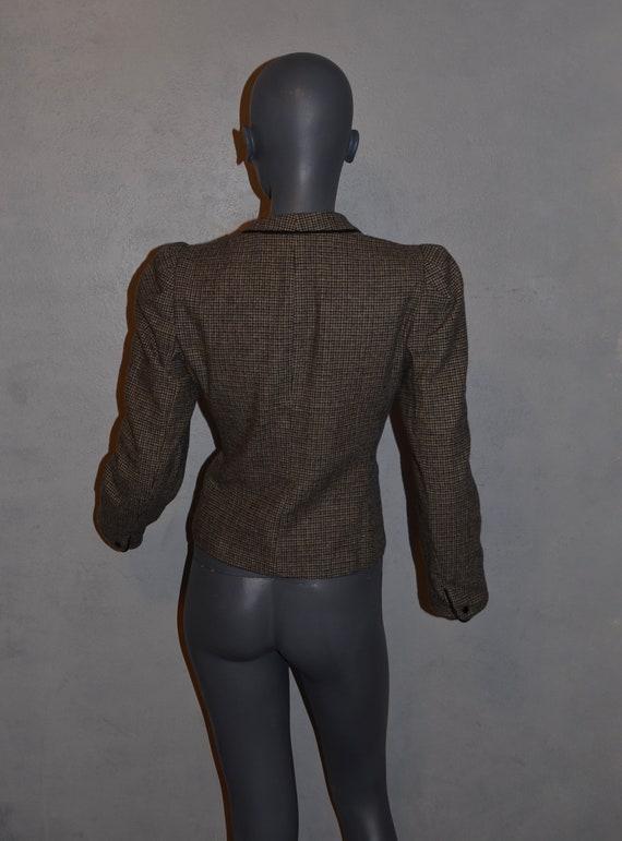 1970s Allen Bernard fitted jacket.  Suit blazer. … - image 7