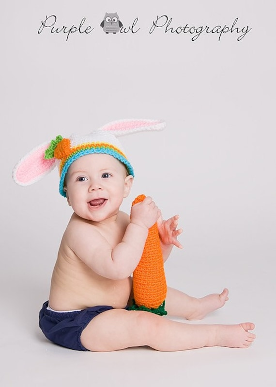 Easter Bunny Hat - Photography Prop - Boy or Girl