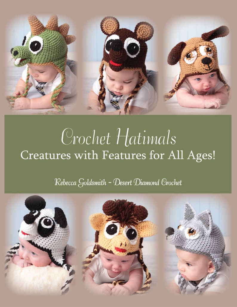 eBook  Crochet Hatimals Book  6 Basic Designs with over 18 image 0