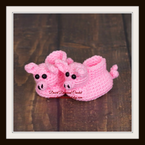 Crochet Pattern 020 - Pig Booties