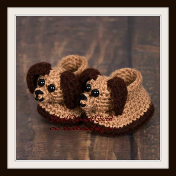 Crochet Pattern 023 - Puppy Dog Baby Booties