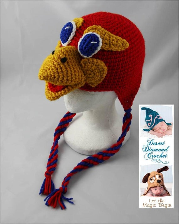 Crochet Pattern 049 - Kansas University Jayhawk - All Sizes