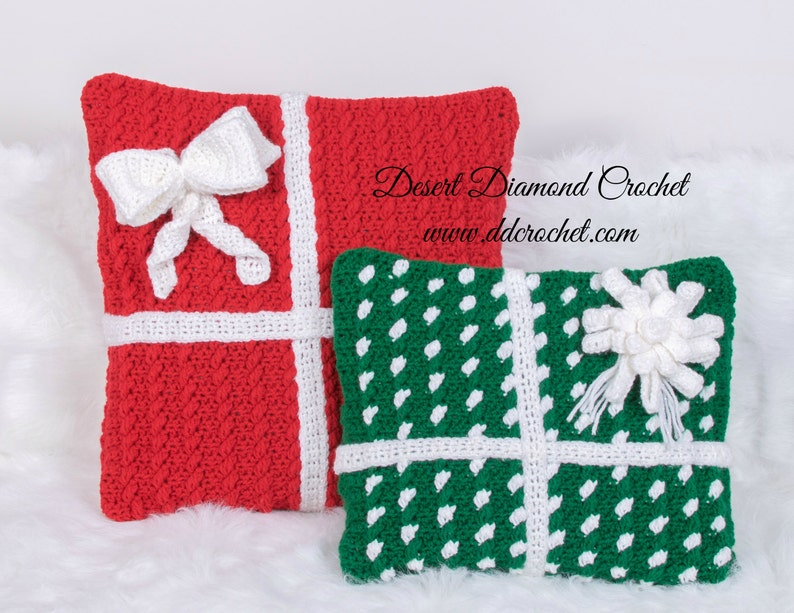 Crochet Pattern  PDF 121 Holiday Gift Pillows image 0