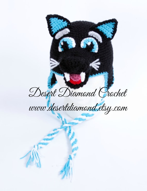Crochet Pattern 106 - Sir Purr Carolina Panther Hat