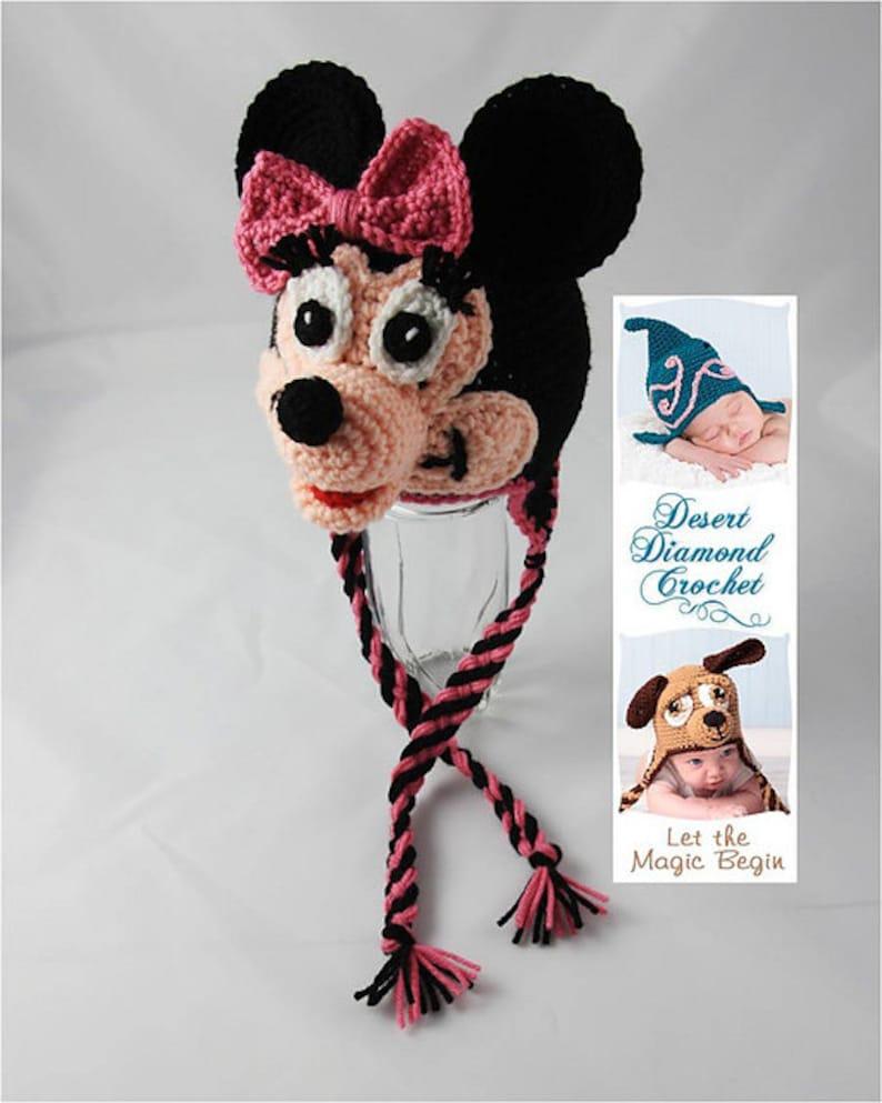 Crochet Pattern 062  Mrs. Mouse Earflap Beanie Hat  All image 0